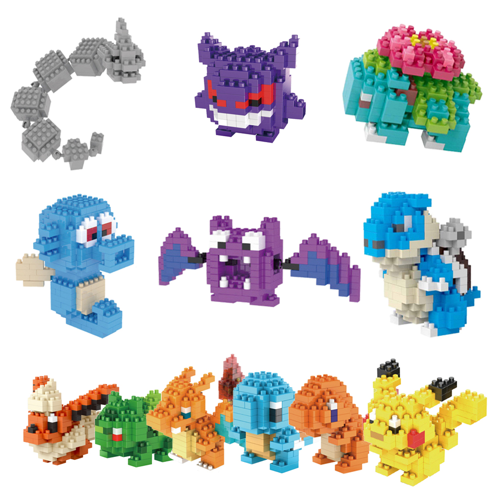 Moster Go <font><b>Action</b></font> <font><b>Figures</b></font> Model Toys <font><b>Pikachu</b></font> Charmander Bulbasaur Squirtle Eevee Child gift <font><b>9</b></font>+ <font><b>Anime</b></font> Building Blocks