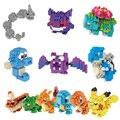 Moster Ir Figuras de Ação Modelo Brinquedos presente da Criança 9 + Anime Eevee Pikachu Charmander Bulbasaur Squirtle Blocos de Construção