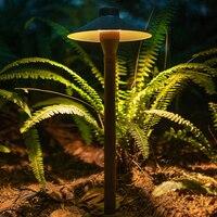 Cogumelo alumínio levou gramado café dooryard varanda ao ar livre lâmpada do gramado do jardim da casa villa paisagem luzes do dossel à prova d' água Luminárias gramado     -