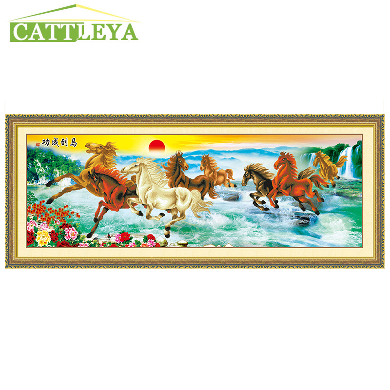 CATTLEYA 5D DIY Diamond Painting cross stitch Horse Animals Mosaic Pattern Hobbies and Crafts Home Decor Gifts