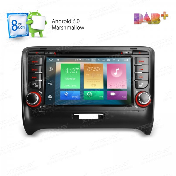 XTRONS Eight 8 Octa Core 2 Din 7″ Android 6.0 Car DVD Player for Audi TT MK2 (2006-2014) with GPS WIFI 4G 64bit 32GB+ 2G RAM