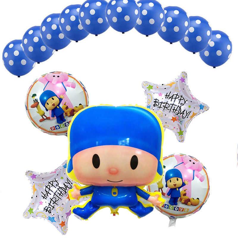 15 pçs/set Pocoyo Balões 18 polegada HB estrela Balão de alumínio Fontes Do Chuveiro de Bebê do Dia das Crianças Festa de Aniversário Decoração Globos brinquedos