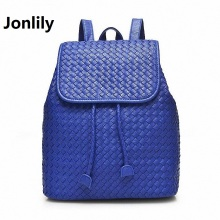 Jonlily Women Genuine Leather Backpack weave School Bags For Girls Korean Backpacks Student Bookbag Mochilas Femininas LI-1392