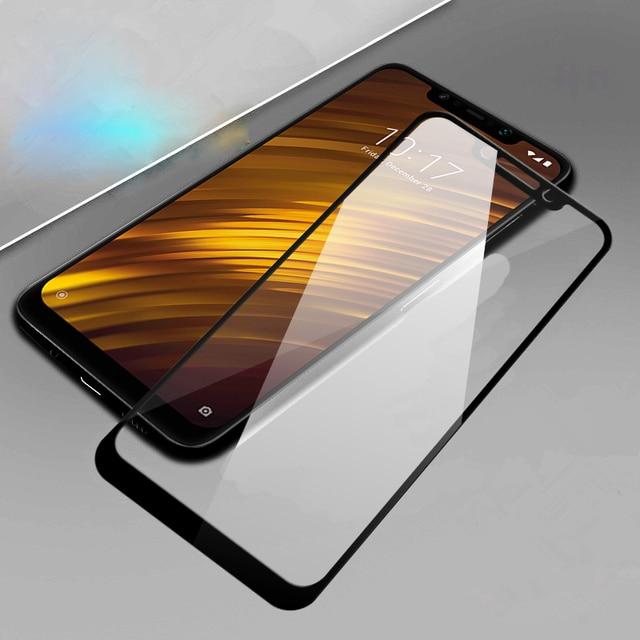 De vidrio templado 9 H para xiaomi teléfono móvil pocofhone poco pocofone f1 mi 8 mi 8 se Pro a2 lite a1 de protección película de cubierta de pantalla de vidrio