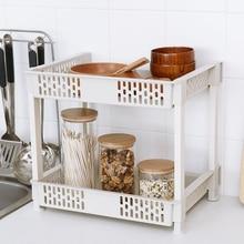 Японский многофункциональный двойной полки кухня специй блюдо стойки кухонные принадлежности bathromm органайзера