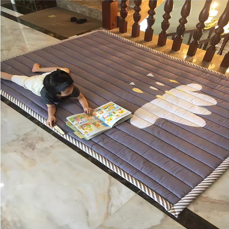 Infant Shining Baby Play Mat Cotton Playmat for Child 2cm Thickness Non-slip Rug 140*200cm Children Game Carpet Machine Washable bookcase super soft non slip bath door mat machine washable quickly drying