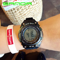 New Brand SANDA Watch Men Military Sports Watches Silicone Waterproof LED Digital Wristwatch for Men Clock Luxury Watch OP001