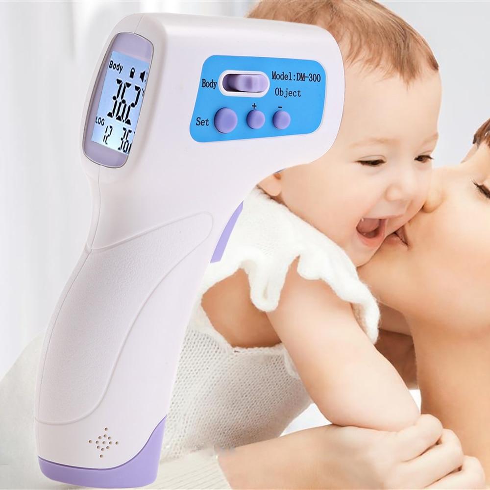 Dm300 handheld termômetro infravermelho lcd sem contato ir medição de temperatura termometro digital laser gun ferramentas de diagnóstico
