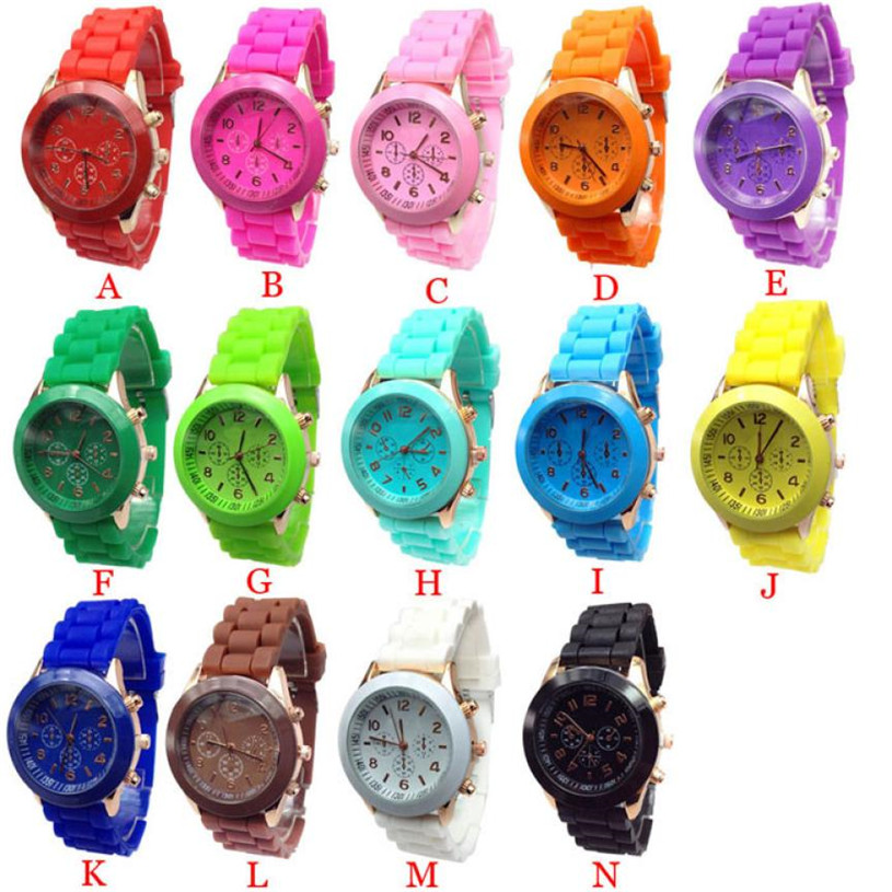 Women Watch Cheap Silicone Band Quartz Jelly Wrist Watches For Women/Ladies/Girls Fashion Sport dropshipping free shipping  #30 new fashion quartz watch rose flower print silicone watches floral jelly sports watches for women men girls free ship wholesale