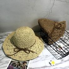 Handmade Crochet Hollow Pineapple Sunscreen Straw Sun Hat Fashion Trend Folding Soft Beach Sunshade Hats MD012