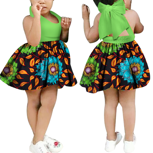 a7cbb935efc4f US $38.86 |2018 African Kid's Clothing Girl's Dashiki Traditional 100%  Cotton Africa Print Natural Children Dresses Children Summer WYT71-in  Africa ...
