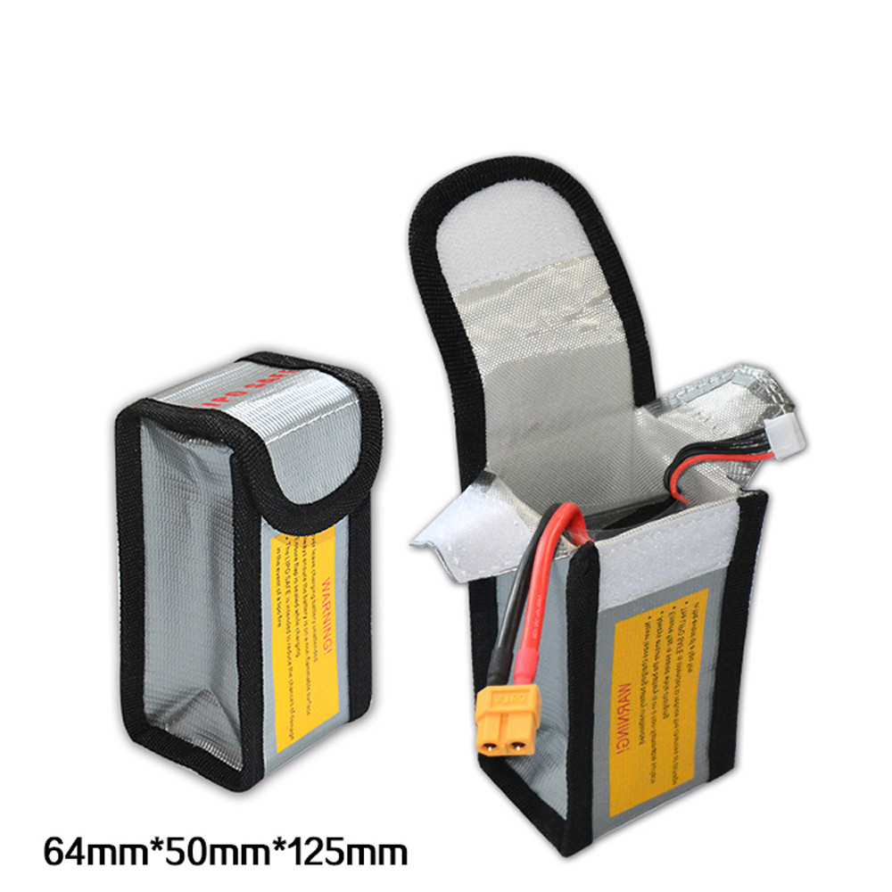 LiPo Li-Po Battery Fireproof Safety Guard Safe Bag 64*50*125MM Levert Dropship