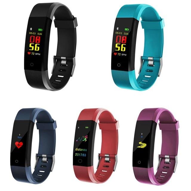 Bracelet intelligent montre Fitness moniteur de pression artérielle de fréquence cardiaque, podomètre pour garçons et filles, Bracelet intelligent pour Android iOS