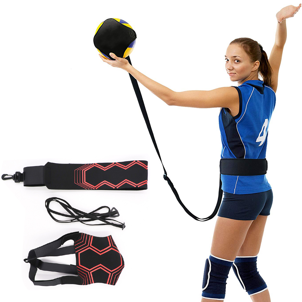 Hot New Volleyball Training Returns Ball Equipment Aid Great Trainer Belts For Solo Practice Of Serving Tosses Adjustable Length