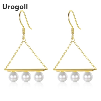 Genuine 925 Sterling Silver Fine Jewelry Trendy Pearl Drop Earrings For Women Anniversary Party Silver 925 Jewelry Gifts