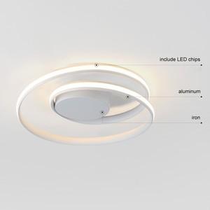 Image 4 - Siyah halka Modern LED avize lamba oturma odası için uzaktan ev yemek odası ışıkları fikstür tavan daire parlaklık