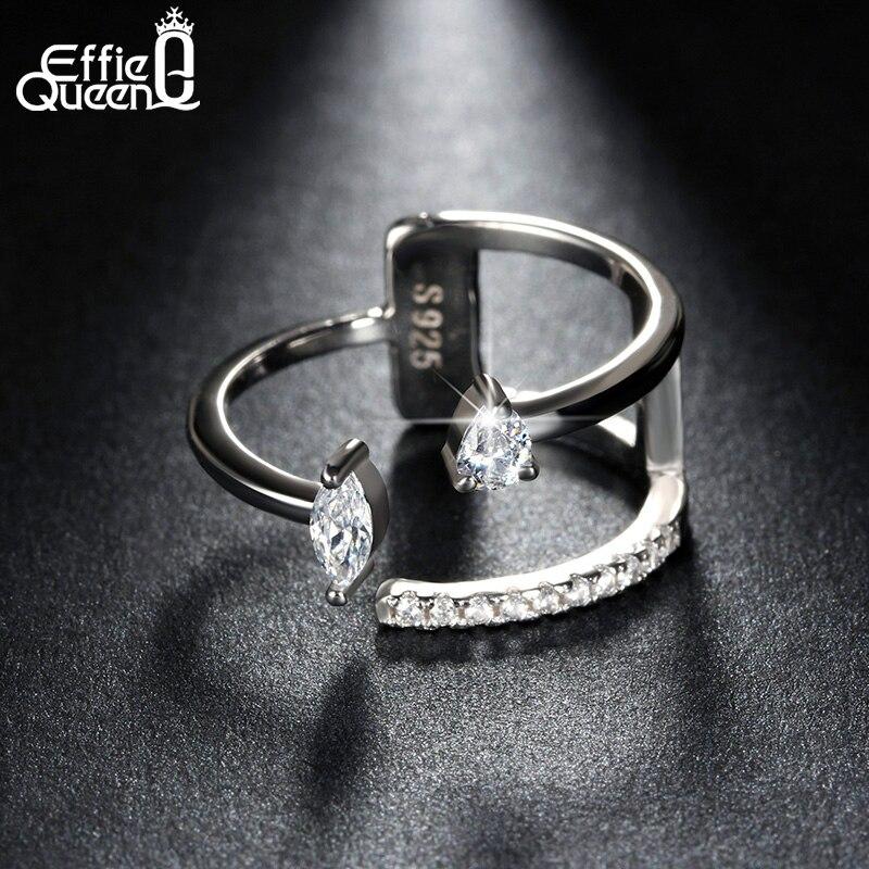 Effie Queen Irregular Design Female Finger Ringss