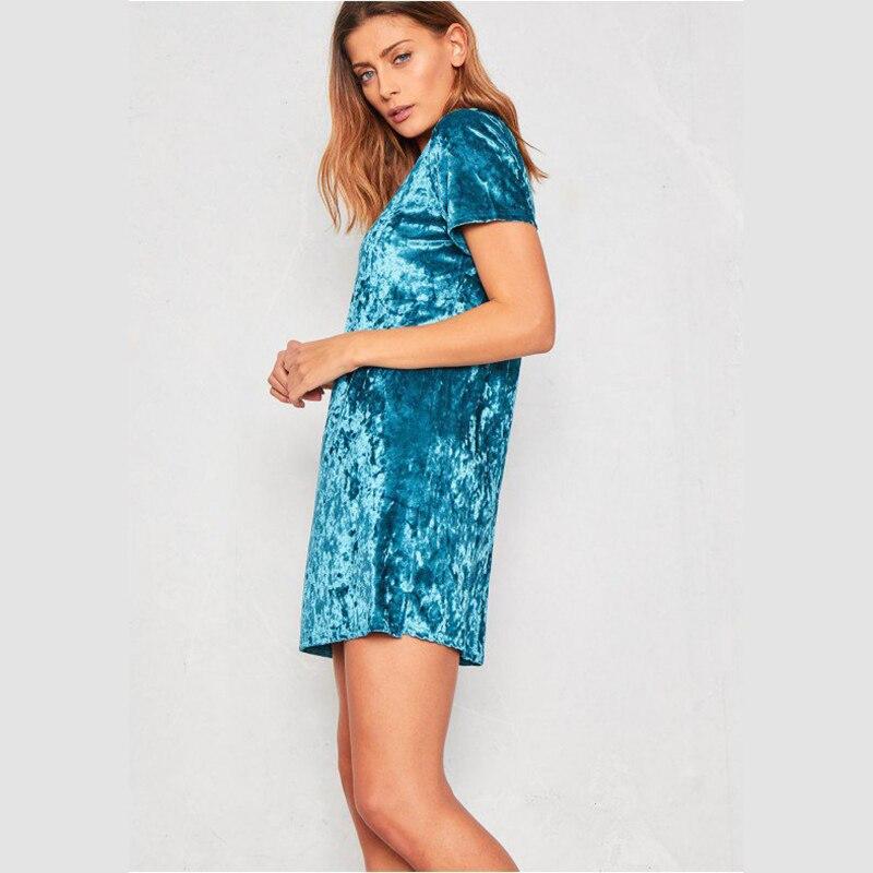 Spring Summer velvet dress women short-sleeved HTB1z9a7lgLD8KJjSszeq6yGRpXaU