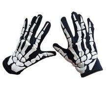 1 пара на Хэллоуин, страшный череп, коготь, кость, скелет, готические гоночные перчатки, Велоспорт, снаряжение для пеших прогулок, перчатки для улицы#4n09