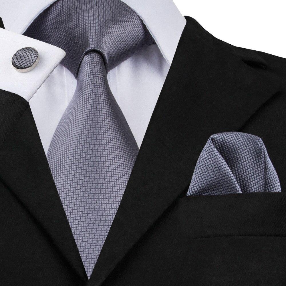 YP-fashion Jacquard Woven Silk Tie Cufflinks Necktie Sets For Wedding Party