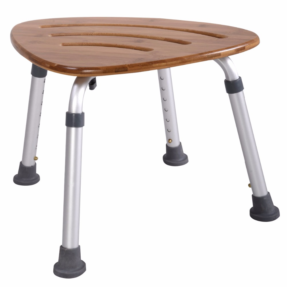 Ducha Bano taburete Silla Asiento ajustable la altura 49*35.5*34-51cm BA7007 pu taburete silla de oficina giratorio ajustable plegable ergonomica diseno hw51438