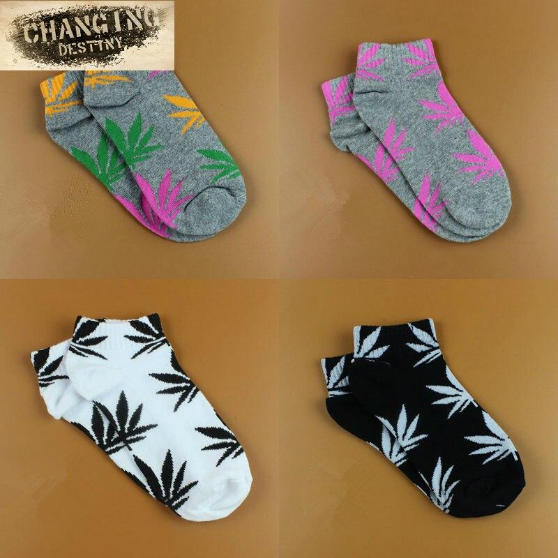 20 Цвета Хлопка Германии Harajuku скейтборд хип-хоп кленовый лист носки Для женщин лодочной улице носки для Для женщин ...