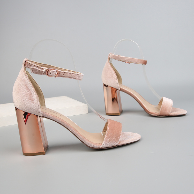 2018 Ankle Strap Heels Women Sandals Summer Shoes Women Open Toe Chunky High Heels Party Dress Sandals Lady fashion suede heels covibesco nude high heels sandals women ankle strap summer dress shoes woman open toe sandals sexy prom wedding shoes large size