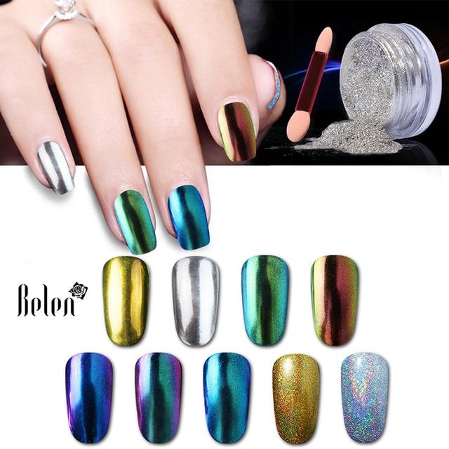 Belen 3D plata brillante vtirka Brillos de uñas Polvos de maquillaje ...