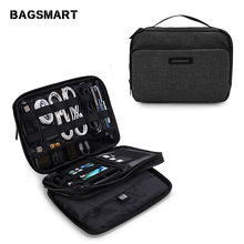 bagsmart electronic accessories organizers for sd card iphone dater cables earphone usb digital travelcase organize handbag Bagsmart Portable Accessories Bag Design bag Large Capacity Electronic Organizers Water ResistantAir Travel Bag
