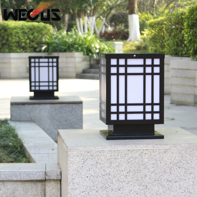 LED Wall pillar lamp outdoor courtyard landscape light square wall head lamp waterproof villa garden gate outdoor light aluminum wall lamp headlight lamp door square pillars villa courtyard lamp outdoor waterproof garden lights fg197