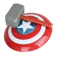 Мстители Endgame супергерой оружие Модель 32 см Капитан Америка игрушечный щит Хэллоуин косплей реквизит 28 см Тор модель молотка