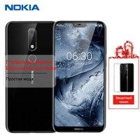 Nokia 6,1 плюс X6 64 г 6 г мобильный телефон 5,8 Snapdragon 636 Octa Core Dual сзади Камера Android отпечатков пальцев