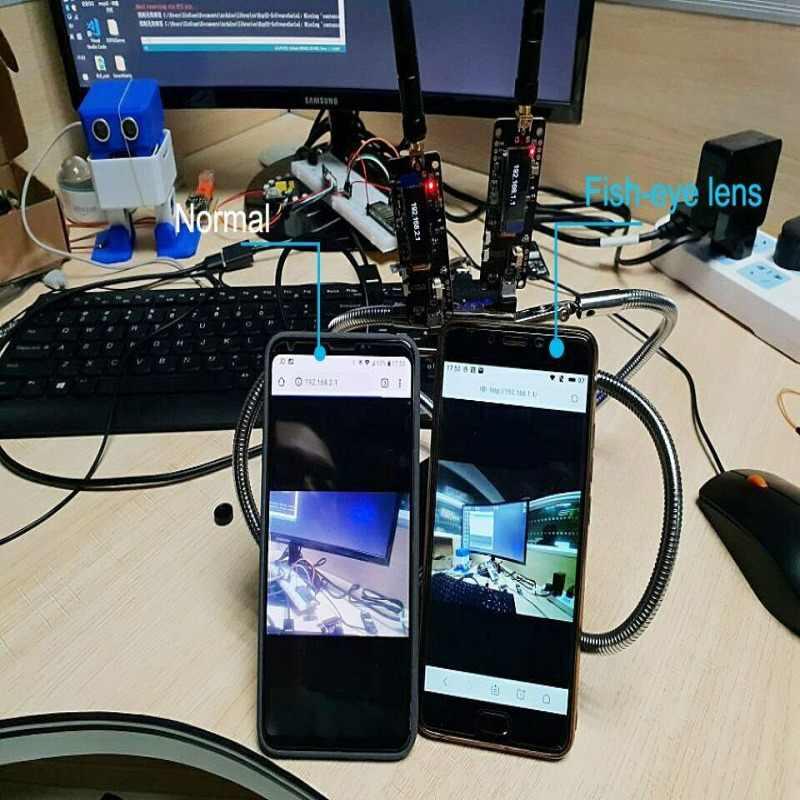 חדש T-כתב עת ESP32 מצלמה מודול פיתוח לוח OV2640 מצלמה SMA Wifi 3dbi אנטנה 0.91 OLED מצלמה לוח