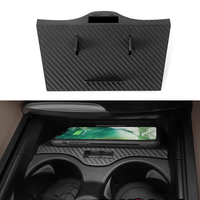 For BMW 5 6 series F10 G30 G38 GT car QI wireless charger fast charging panel center console trim carbon fiber accessories
