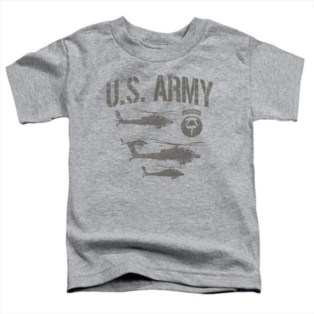 Army-Airborne – Short Sleeve Toddler Tee Heather – Large 4T