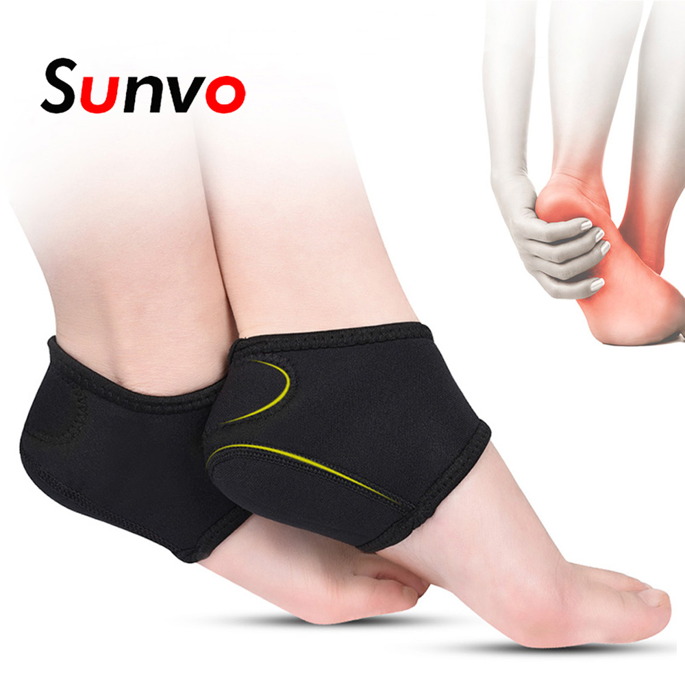 Sunvo Men Plantar Fasciitis Socks For Achilles Tendonitis Calluses Spurs Cracked Pain Relief Heel Pads Foot Care Inserts Pad