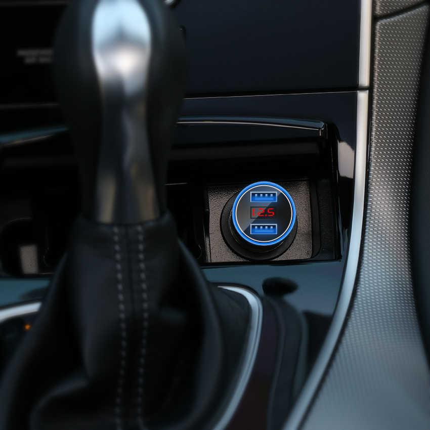 Cargador de coche CRDC 5V 3.1A con pantalla LED cargador de coche Usb Dual Universal para Xiaomi Samsung S8 iPhone X 8 Plus Tablet, etc.