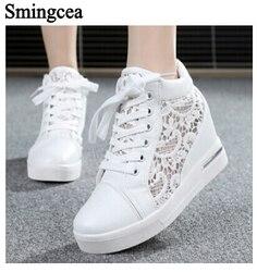 6cm high fashion cutouts lace white canvas shoes hollow floral print breathable platform women casual mesh.jpg 250x250