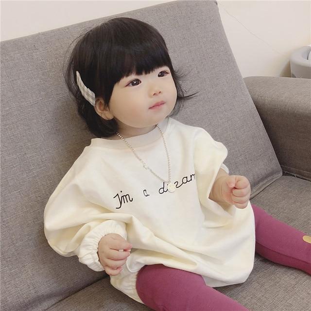 e686fde90bccf Winter Autumn Sweater Korean Baby Bodysuits Version Of Sweatshirt Girl  Winter Girls Hoodies velvet Girls Clothes