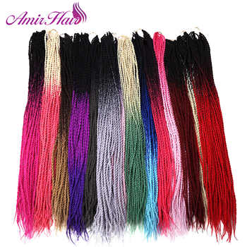 Amir 24inch 30roots Senegalese Twist Hair Crochet Braid Extensions Ombre Jumbo Synthetic For Braiding - discount item  0% OFF All Category