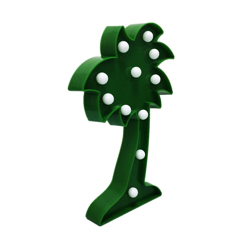Cheap price Green Plant Style 11 LED Coconut Tree Shape Baby LED Night Light