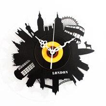 Ulasan Jam Dinding London Belanja Online Busana Kreatif Retro Vinyl