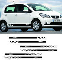 2 PCS Leon FR Mii Vinly Car Styling Racing Decals Side Skirt Stickers Wraps For Seat Tarraco Ibiza Ateca Exeo