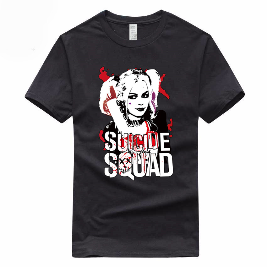 Harley Quinn Euro Size 100% Cotton T-shirt Summer Casual O-Neck Short sleeve Tshirt For Men And Women GMT046