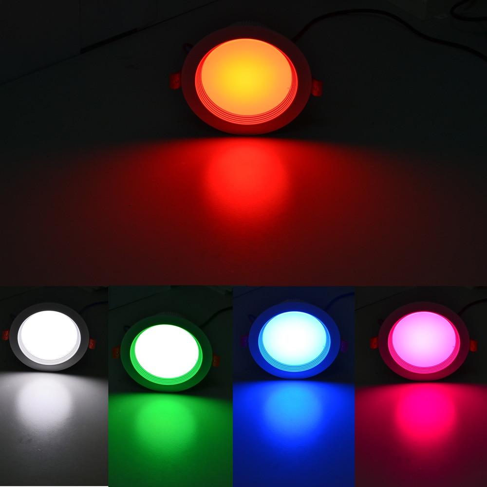 JIAWEN Smart Home RGBW 9W LED Downlight APP Control work with zigbee Bridge AC110-240V zigbee link light zll bridge 5w rgbw led gu10 spotlight ac100 240v rgb smart app control warm white work with alexa ecoh plus le
