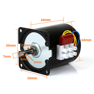 Image 2 - 1pc 220v ac 28w 68ktyz motor síncrono da engrenagem 68 ktyz ímã permanente motor síncrono 2.5/5/10/15/20/30/50/60/80/110rpm