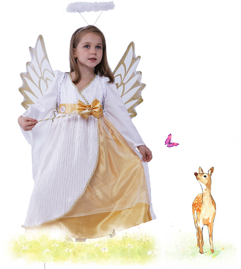 Online Buy Wholesale white angel costume from China white ...
