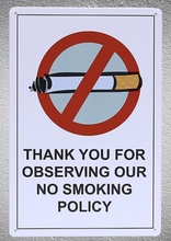 1 pc No smoking Allowed Policy do not smoke Tin Plate Sign wall man cave Decoration Man Art Poster metal vintage home