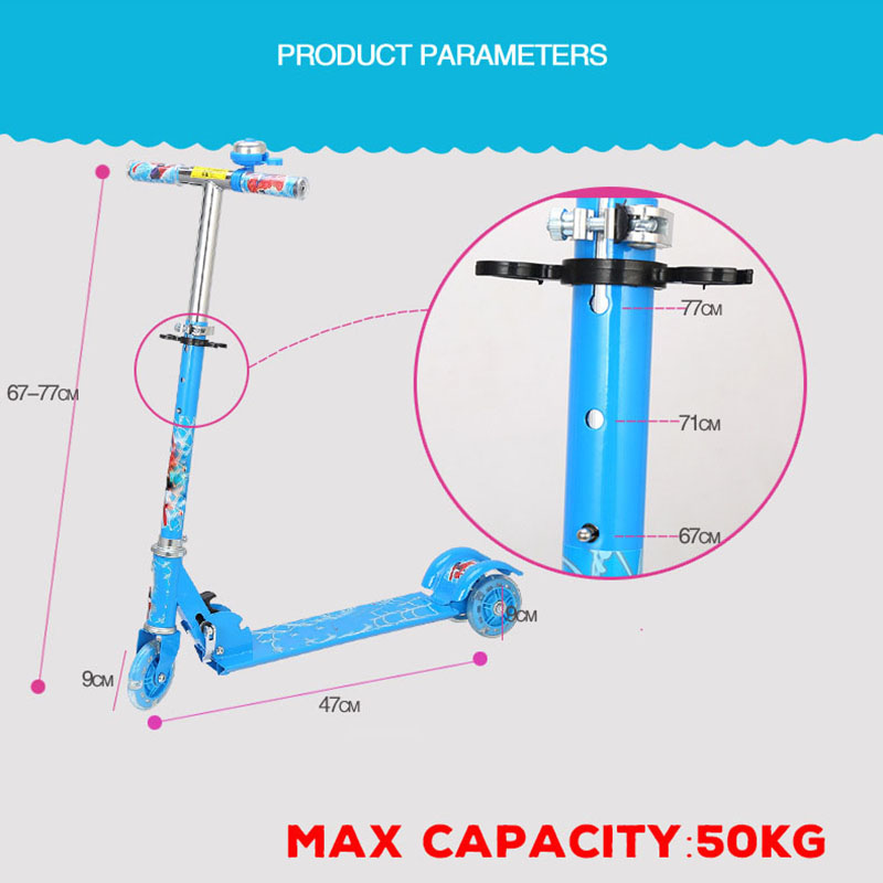 High Quality Seat Adjustable Kick Scooter for Children with shock absorption 6