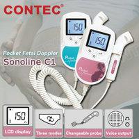 SONOLINE C1 FREE Shipping CE&FDA Approved 3MHZ Probe Pocket Fetal Doppler LCD Screen Free Gel for Pregnancy Home/Hospital